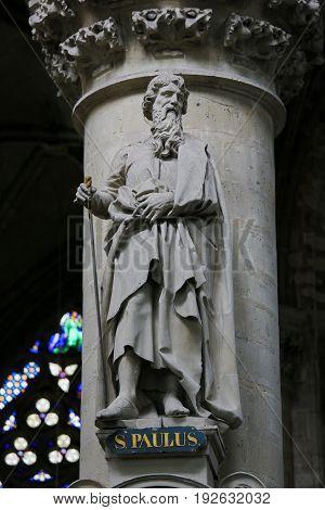 Statue Of Saint Paul Or Paulus