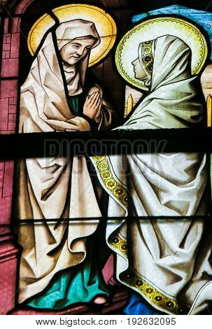 Stained Glass - The Visitation