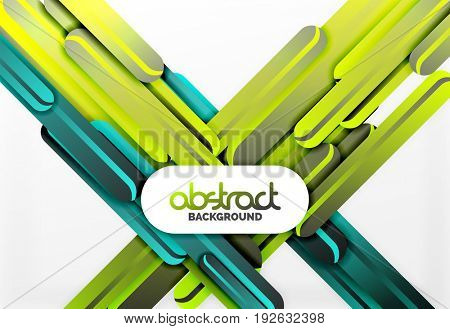 Straight blue and green lines abstract background