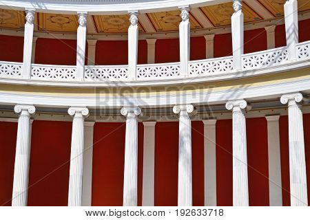 ATHENS GREECE, APRIL 19 2017: inside of the Zappeion Megaron Hall of Athens Greece. Editorial use.