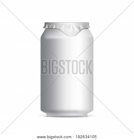 light aluminum cans for beer and soft drinks or energy. Packaging 330 ml. Vector illustration