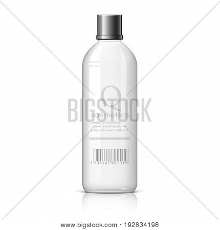 Realistic cosmetic bottle on a white background. Cosmetic package for cream soups foams shampoo glue. Mock up set for brand template. vector illustration.