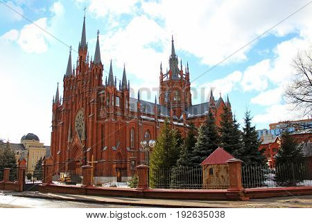 The Cathedral of the Immaculate Conception of the Holy Virgin Mary is a neo-Gothic Catholic church in Moscow, Russia.