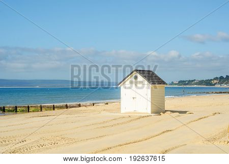 Colored Houses On The Beach, Colorful Door To Summer Cottages, Seaside Spot