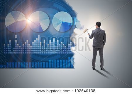 Businessman painting in business concept