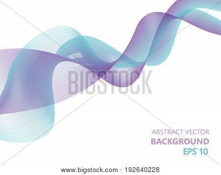 Abstract modern wavy background. EPS 10 vector illustration isolated on white.