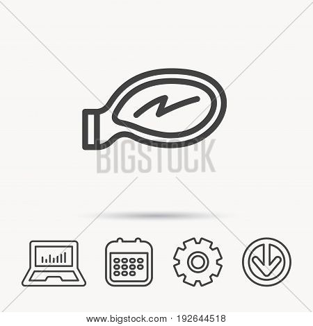 Car mirror icon. Driveway side view sign. Notebook, Calendar and Cogwheel signs. Download arrow web icon. Vector