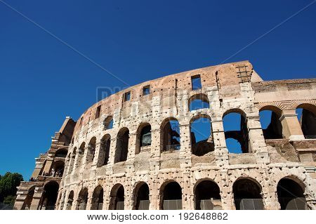 View Of Colosseum In Rome At Daytime. Italy, Europe