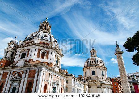 Santa Maria Di Loreto In Piazza Venezia. Rome, Italy