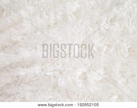 close up of white man made fur