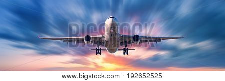 Airplane With Motion Blur Effect