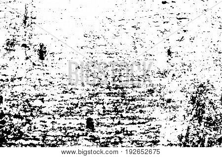 Lumber vector texture. Black grit on transparent background. Distressed wooden board. Weathered timber surface. Monochrome vintage overlay. Aged scratched tree surface. Rough timber texture trace