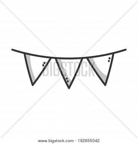 line flag party to decoration design vector illustration