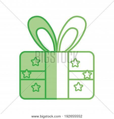 silhouette present gift to celebrate special day vector illustration