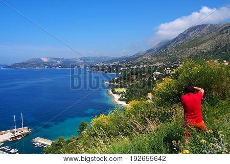 Photographer on the Dalmatic Coast in Croatia, Europe