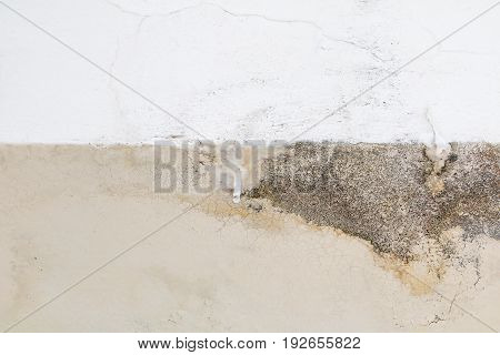 stalactites or limestone formation drops on edge beam fo building