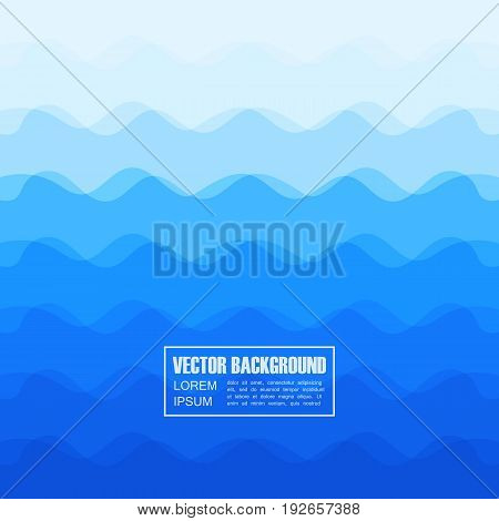 abstract blue curve background with transparency curve