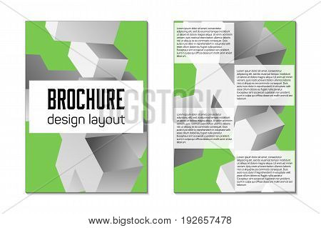 Brochure design template flyer. Front and back page size A4 template. Creative cover for business trend mock up.