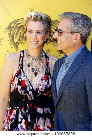 Steve Carell and Kristen Wiig at the World premiere of 'Despicable Me 3' held at the Shrine Auditorium in Los Angeles, USA on June 24, 2017.