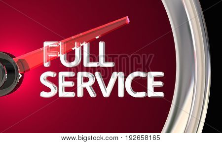 Full Service Company Business Customer Support Total 3d Illustration