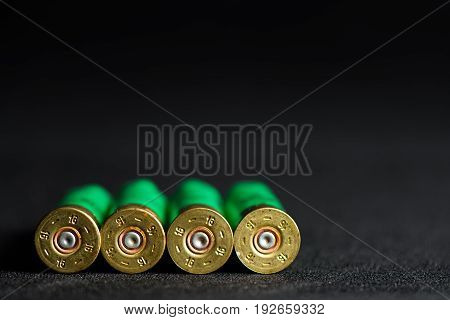 Casings From A Hunting Rifle Green Caps Lying To The Viewer