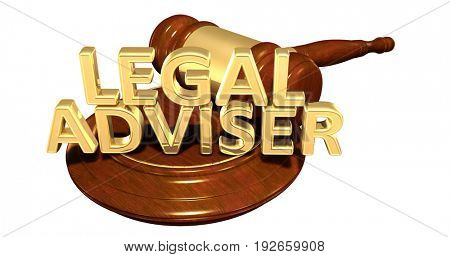 Legal Adviser Law Concept 3D Illustration