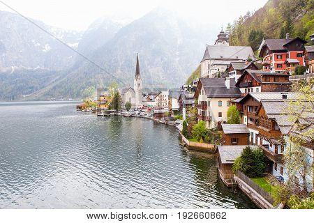 Beautiful small village Halstatt in upper Austria