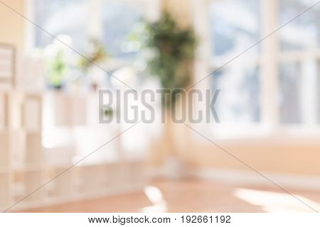 Blurred bright background interior home with natural sunlight