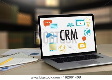 Business Customer Crm Management Analysis Service Concept , Customer Relationship Management