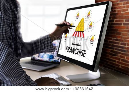 Franchise  Marketing Branding Retail And Business Work Mission Concept