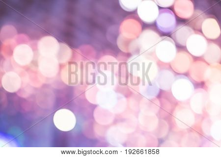 Abstract colorful pink blue bokeh light background