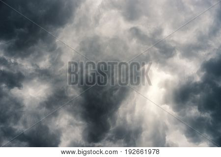 rain cloud, storm cloud before a thunder storm Background
