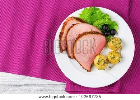 Spicy Beef Roast Cut In Slices