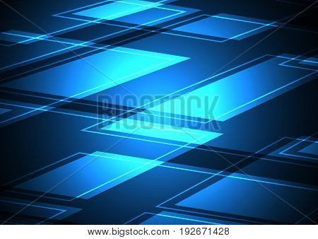 Technology Digital Future Abstract Rectangle Background