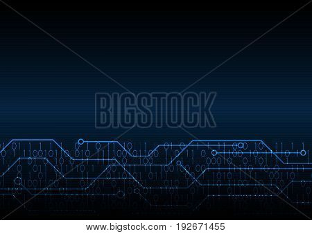 Technology Digital Future Abstract Circuit Binary Background