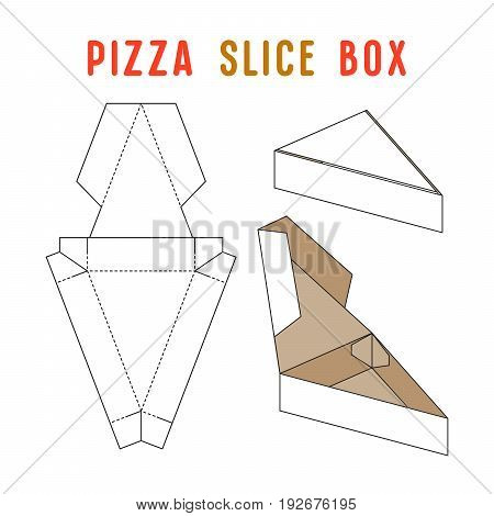 Stock Vector Box For Pizza Slice