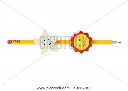 Pencil With Smileys