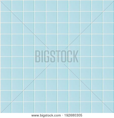 Light blue seamless pattern tile wall texture background for interior home bathroom design or 3d rendering decoration