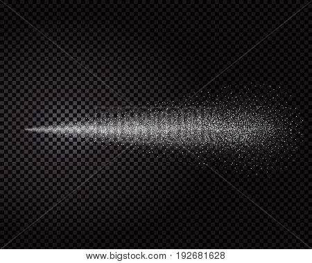Water spray mist of atomizer. Cosmetic dust effect vector illustration