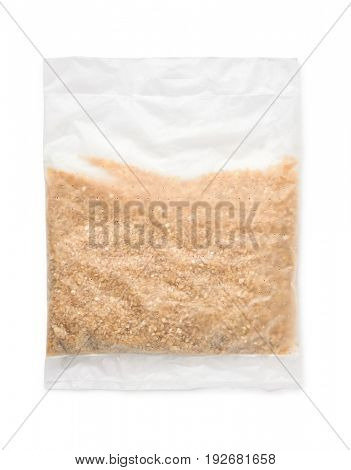 Top view of quick cooking wheat porridge bag