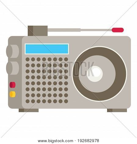 Radio. Flat icon colorful vector isolated on white background