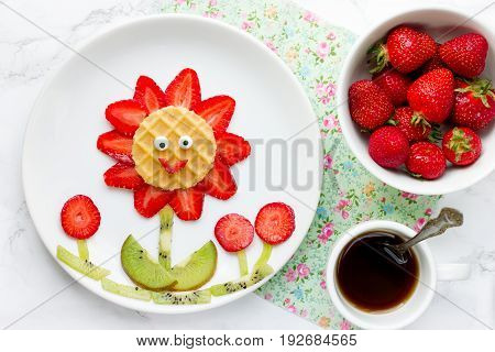 Strawberry flower fun food for kids summer food