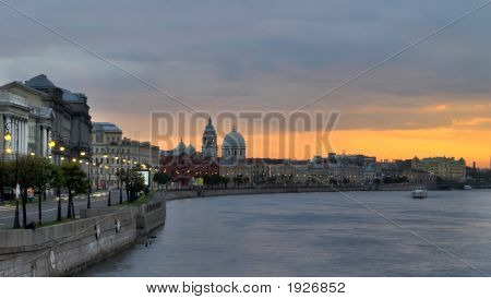 Sunset On The Neva River