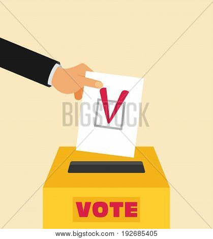 Elections - conceptual illustration. Election day vector
