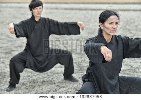 Tai Chi Chuan, Outdoors Image, Toned Image, Horizontal Image