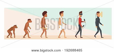 Human evolution and future. vector illustration eps10