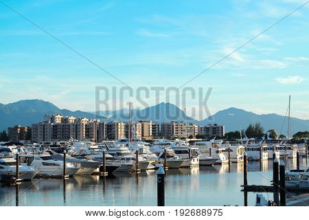 yachts in the golden coast