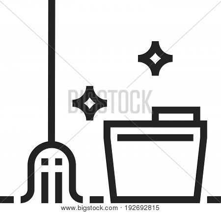 Mop Cleaning Icon