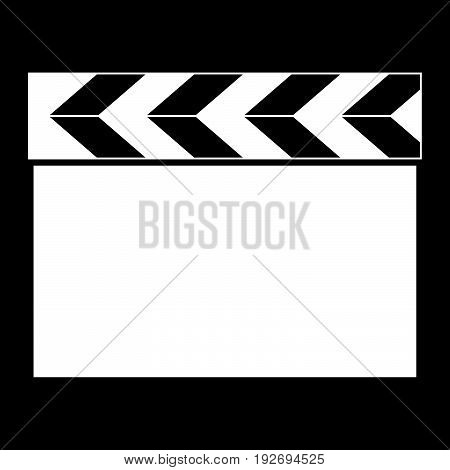 Cinema Clapper   It Is The White Color Icon .