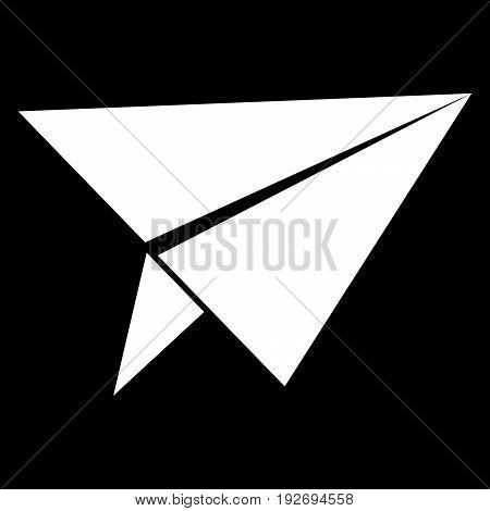 Paper Airplane   It Is The White Color Icon .